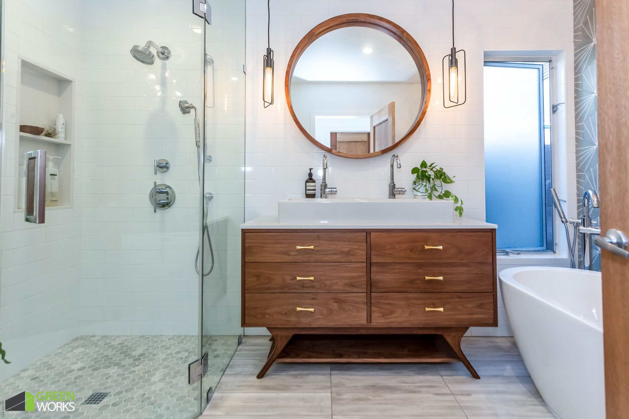 master bathroom remodel greenworks construction and design inc